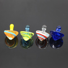 Handmade lampwork glass spinning top wholesale