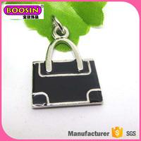 Cheap price handbag design metal charm for girl's ,bags decoration