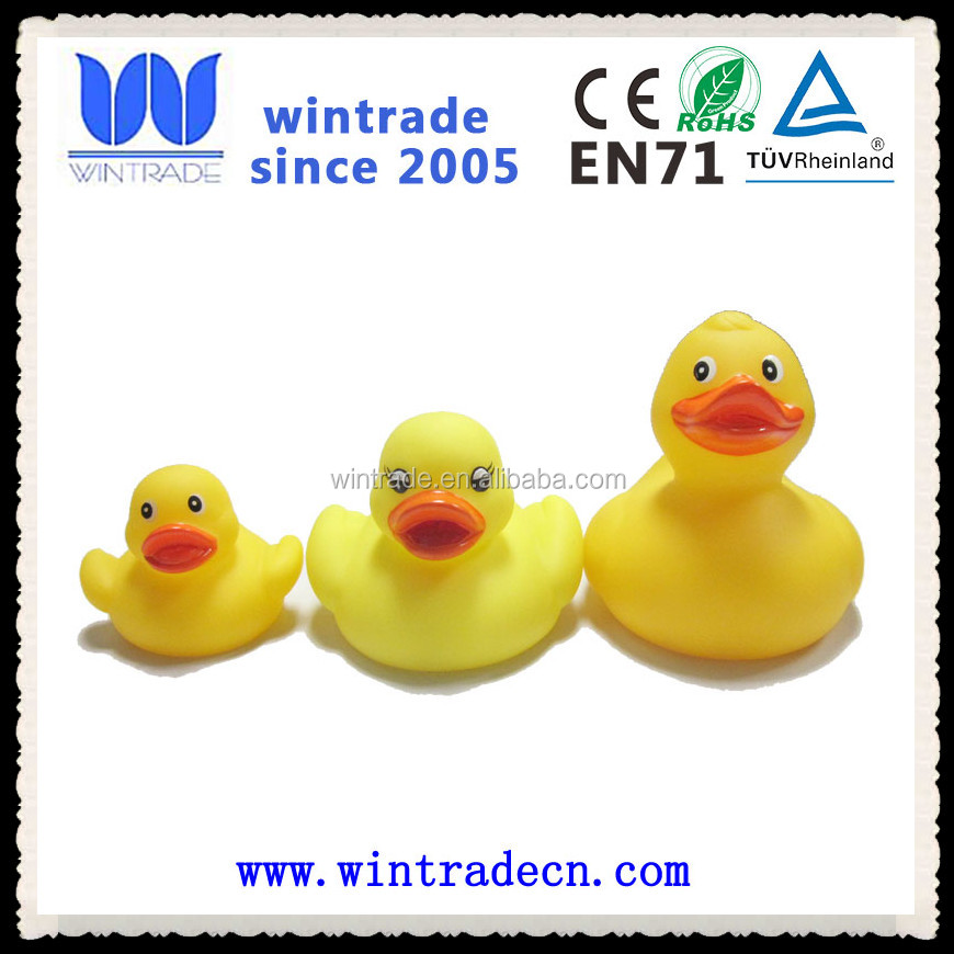 small/medium/big yellow floating classic bath rubber duck ducky