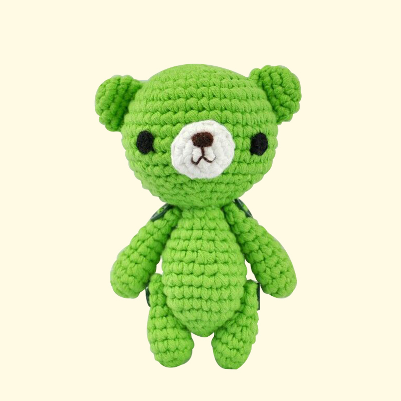 Wholesale soft baby toy stuffed knitted teddy bear crochet animal doll