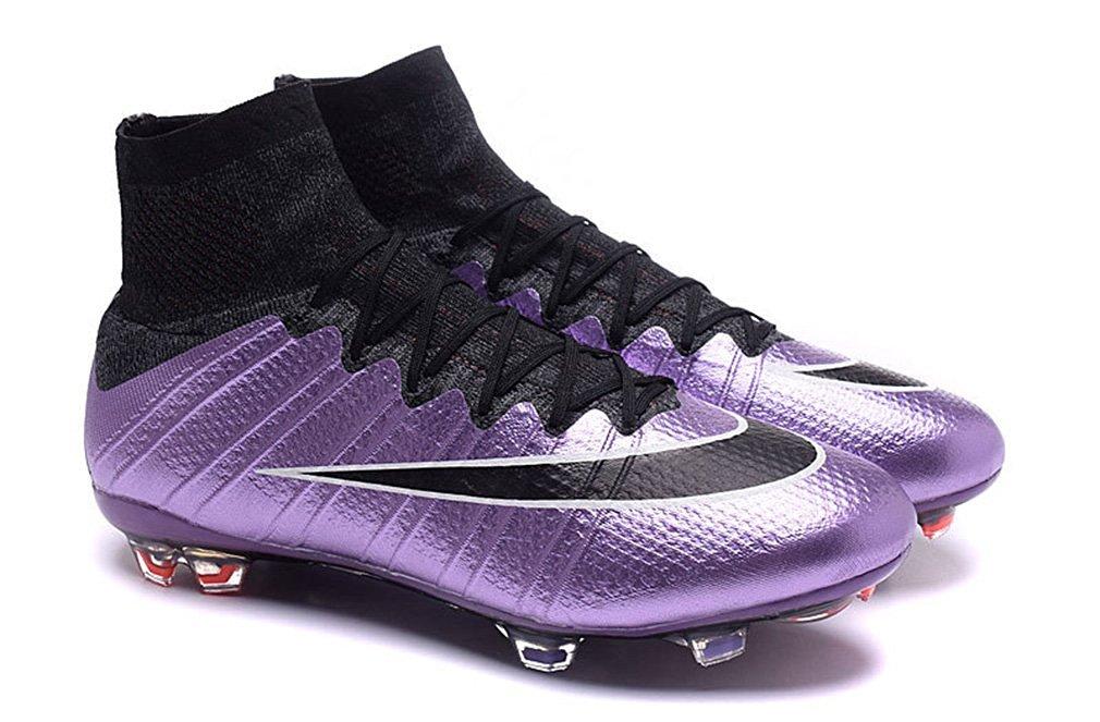 big sale 96d50 346c9 ... Top Football Boots Soccer Shoes. Get Quotations · Men s Mercurial X  Superfly V FG-Urban lilac-Bright Mango-Black-Black