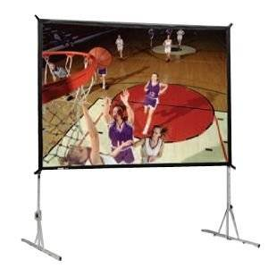 """Da-Lite Heavy Duty Fast-Fold Deluxe Screen System Hdtv Format - Projection Screen With Heavy Duty Legs - 330 In ( 839 Cm ) - 16:9 - Da-Mat """"Product Type: Supplies & Accessories/Screens"""""""