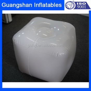 Custom Plastic White Inflatable Stool Ottoman Buy Black