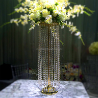 Cheap wedding silver /gold beautiful decorative crystal centerpiece for flowers