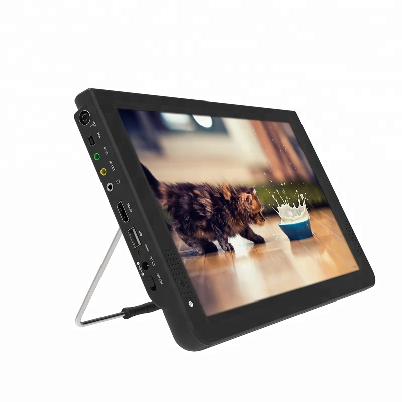 Factory cheap price Low power home tv dvbt dvbt2 tv 12 inch tv 1080P Portable Multimedia Player with video input