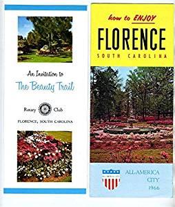 Florence South Carolina Brochures 1966 All America City & Rotary Beauty Trail