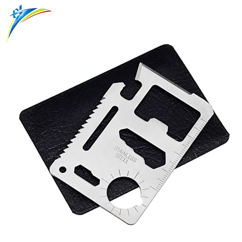 Factory price Multi function Pocket Tools Stainless Steel Hunting Survival Camping Military Credit Card <strong>Knife</strong> 11 in 1