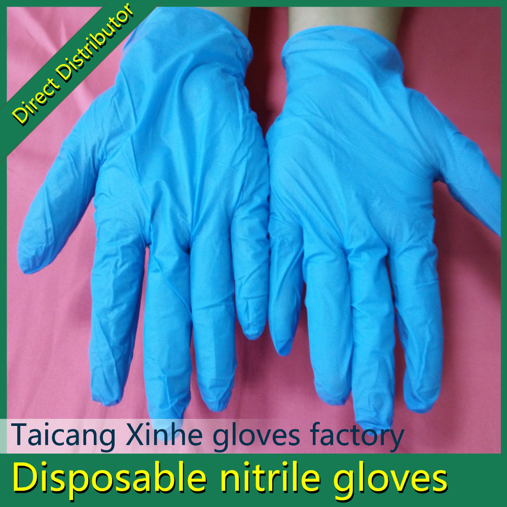 cheap disposable nitrile butadiene medical industry gloves