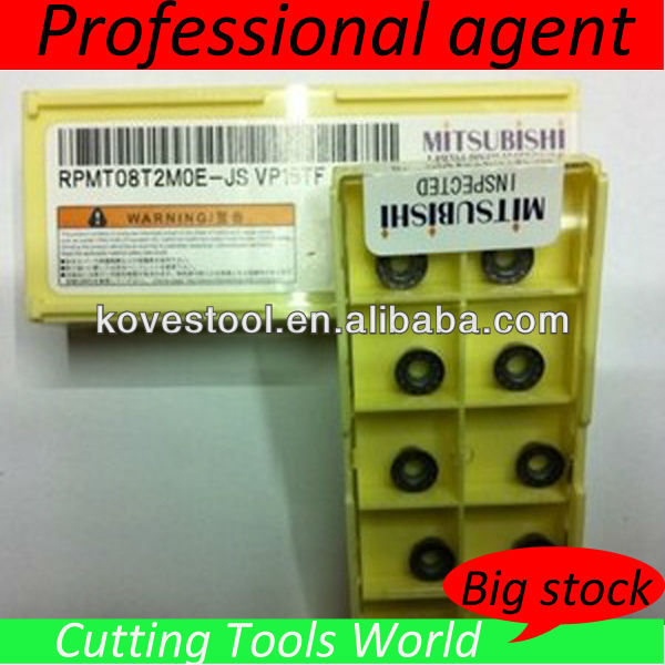 RPMT08T2 2MOE-JS VP15TF Mitsubishi TIN Coated Round precision cutter carbide insert