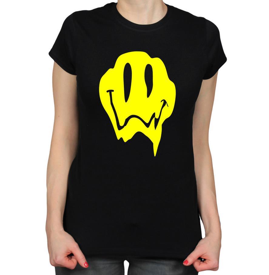 0e367dd91 Melting Acid Smiley Face font b yellow b font print Women tshirts Cotton  Casual Funny T. New Casual Shirt Design 2016 get rushordertees Design  Shirts11 100 ...