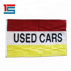 3X5 Foot Red White Yellow Used Cars Attention Message Flag