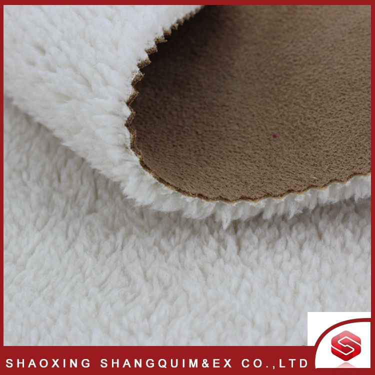 China factory polyester 2 layer Bonded Fleece Knit Fabric/Jacket Fabric