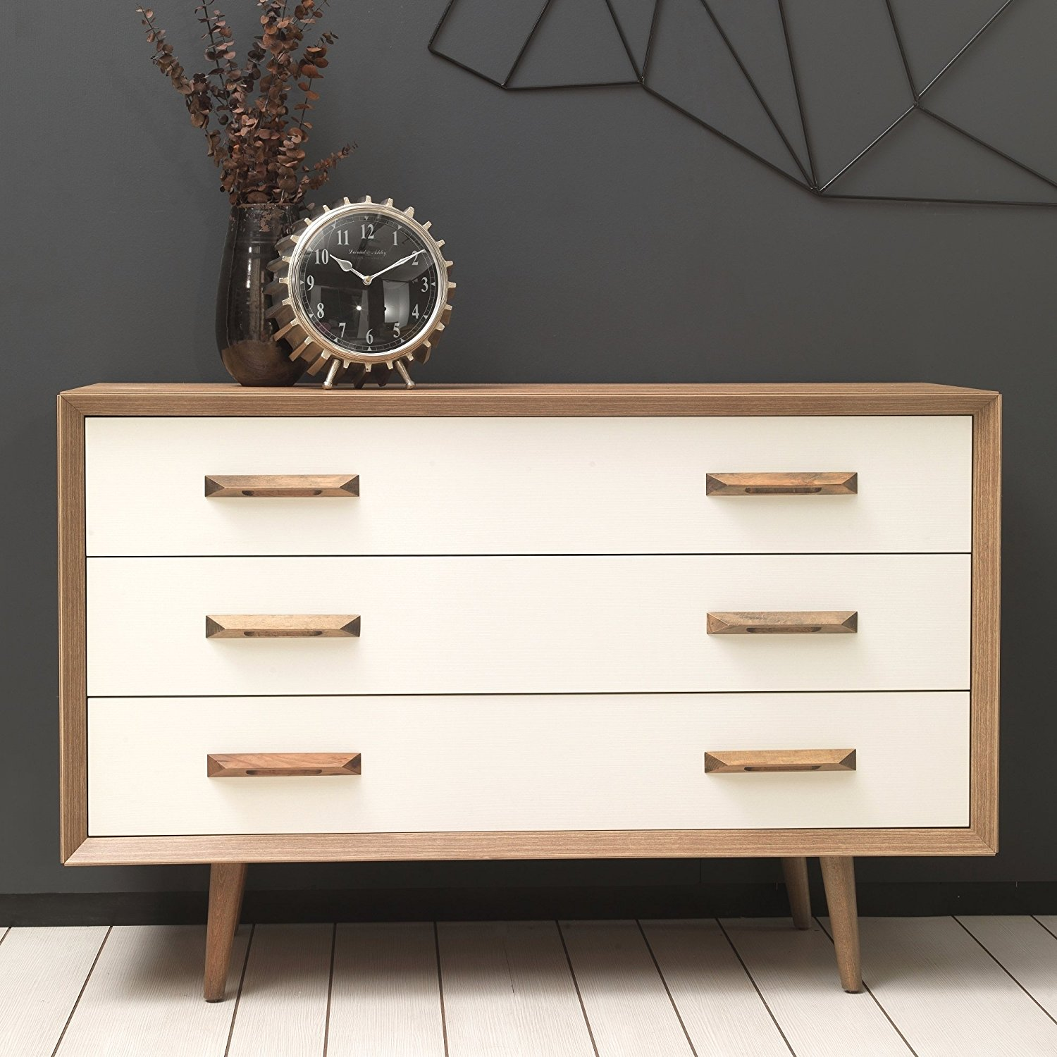 Adam and Illy ALT0268 Alto Chest of Drawers, Sherwood Oak/Moonstone