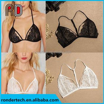 b777d045f2 Sexy Women Floral Lace Bra Lingerie Bustier Sheer Bralette Unpadded Camis  Crossback Brassiere Sleepwear Crop Top