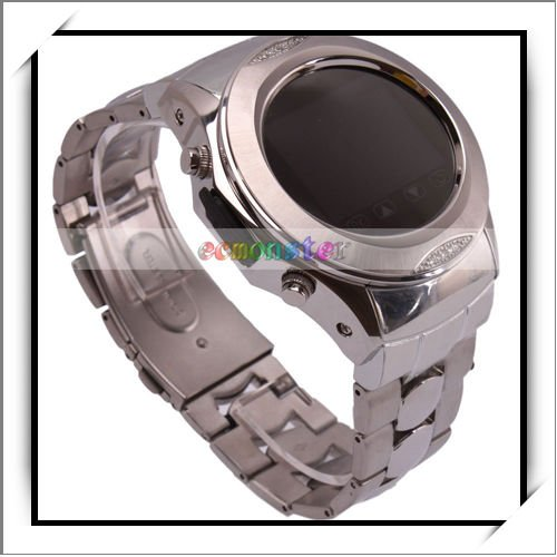 HOT! MP3/MP4/Bluetooth Mobile Phone Watch Silver-E02064
