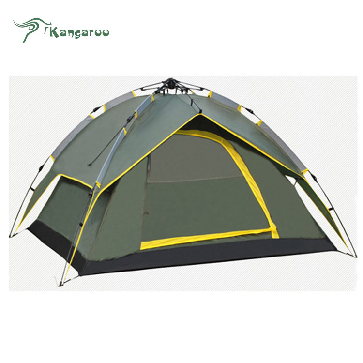 Portable 190T Polyester+Mesh Yarn Double Layer Quick Set Automatic Open Outdoor Camping House Auto <strong>Tent</strong>
