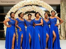 Черные и синие платья для девочек в Южно-африканском стиле, платья для подружки невесты, для кантри-сада, для свадебной вечеринки, для гостей...(Китай)