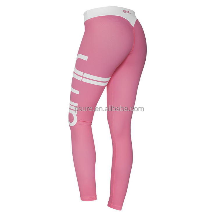 Hot sale wholesale pink tight sports short seamless yoga pants