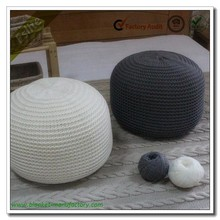 100% Acrylic Chunky Knitted Pouf Ottomans