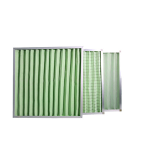Metal frame G4/EU4 panel air filter used in air filter system
