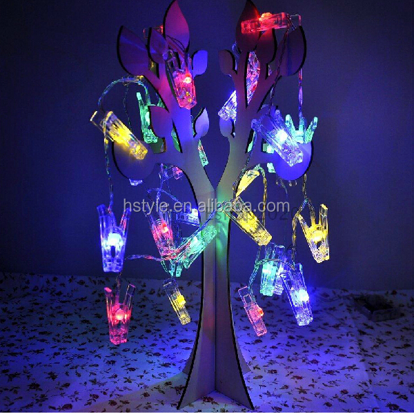 Photo Clip String Lights Clips Colourful Battery Powered LED Light for Hanging Pictures Wedding Anniversary Party HNL110B
