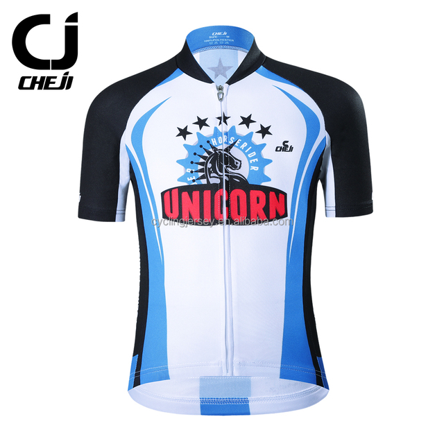 06a763098 CHEJI Custom Children Cycling Jersey Breathable Polyester Little Boys Girls  Summer Bicycle Wear Ropa Ciclismo