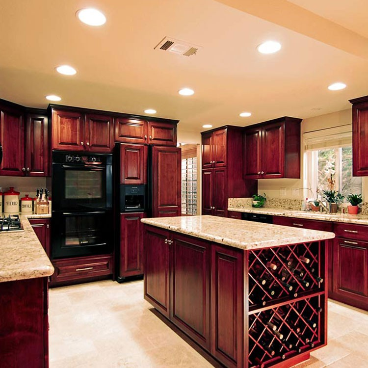 Villa Flat Pack Wood Design Used Kitchen Cabinet Furniture ...