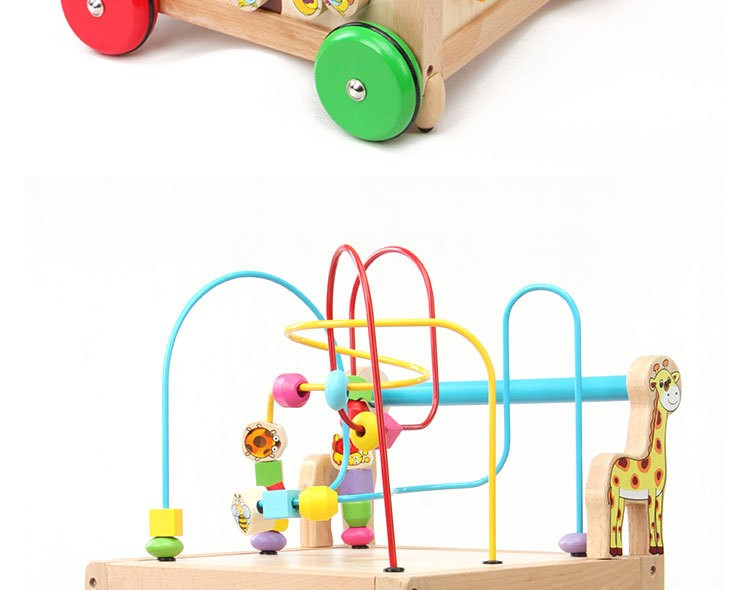 【baby Toys Wooden Around ⑤ Bead Bead Maze Letter