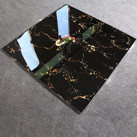 Super black golden glazed polished ceramica tile <strong>flooring</strong>