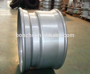 Factory price 22.5x6.75 tubeless truck steel wheel