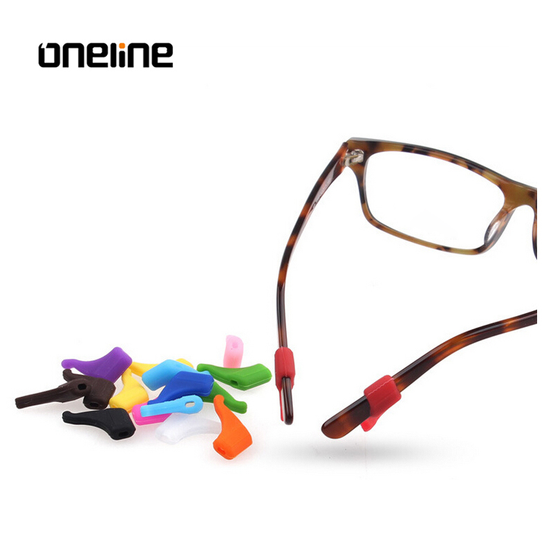 Colorful Spectacle Anti-slip Silicone Eyeglass Temple Tips, Black dark blue;brown;red;white;customized