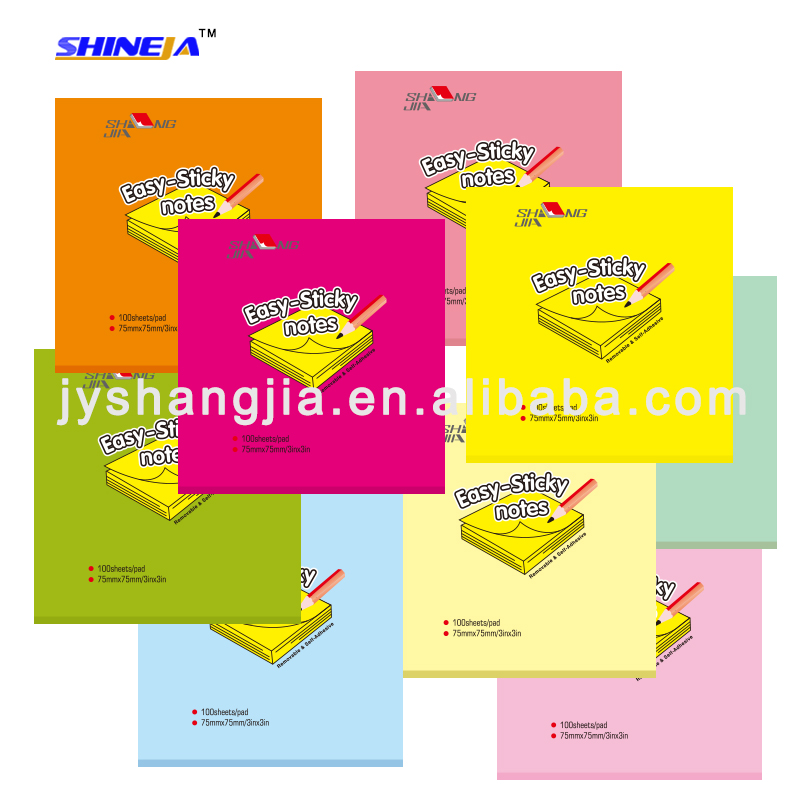 Neon or Pastel color easy notes sticky cigarette film package