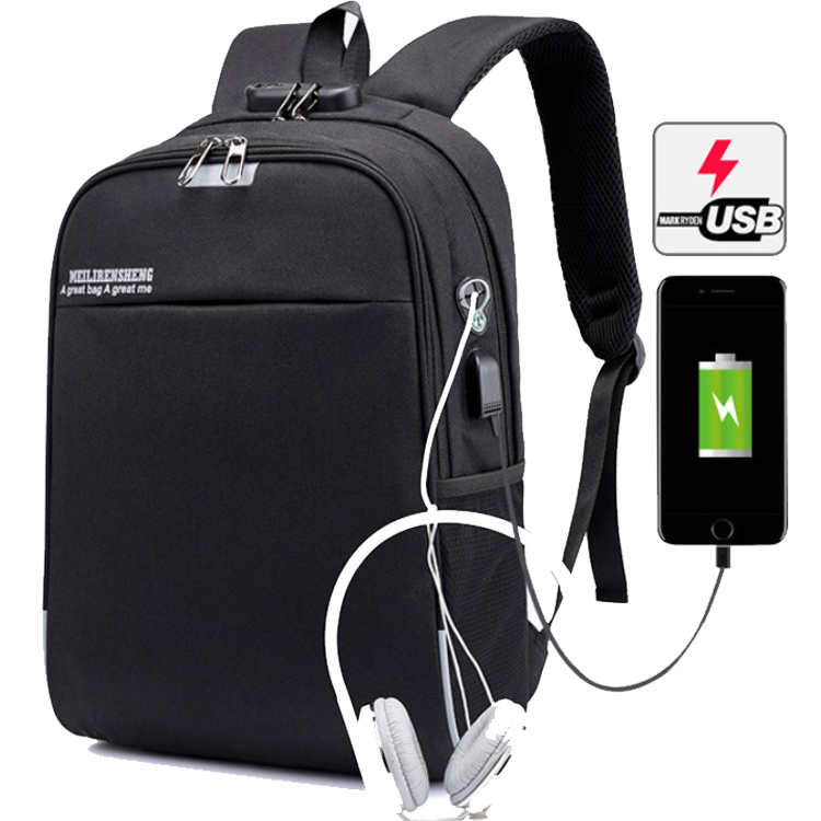 Osgoodway Factory Low MOQ OEM Unisex Travel Casual USB Charging Backpack Waterproof Business Laptop Backpack