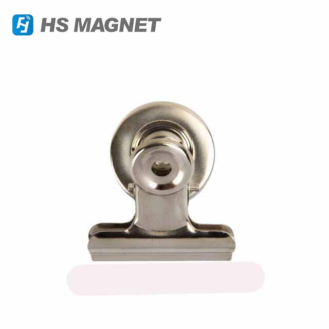 Heavy Duty Mini Silver Refrigerator Magnet Hook Clips for Photo Displays