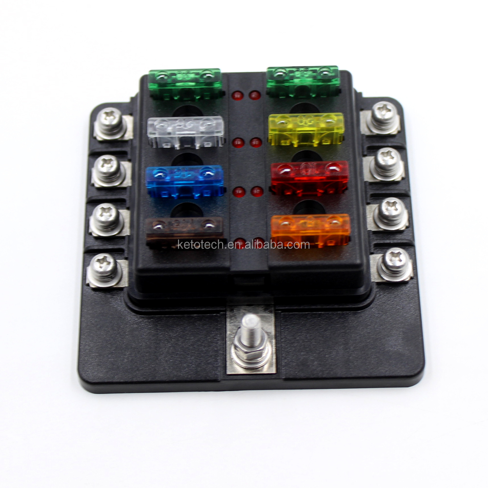 Multi-channel waterproof 8-way blade fuse block for Boats Yacht