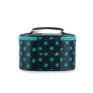 round women cosmetic bag fashion type travel women make up kit bag