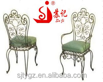 Exceptionnel Classical Indoor Wrought Iron Chairs Included Cushion