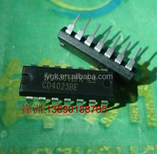 CD4023B DIP - 14 CD4023 new original Texan 3 input nand gate--FZYH2