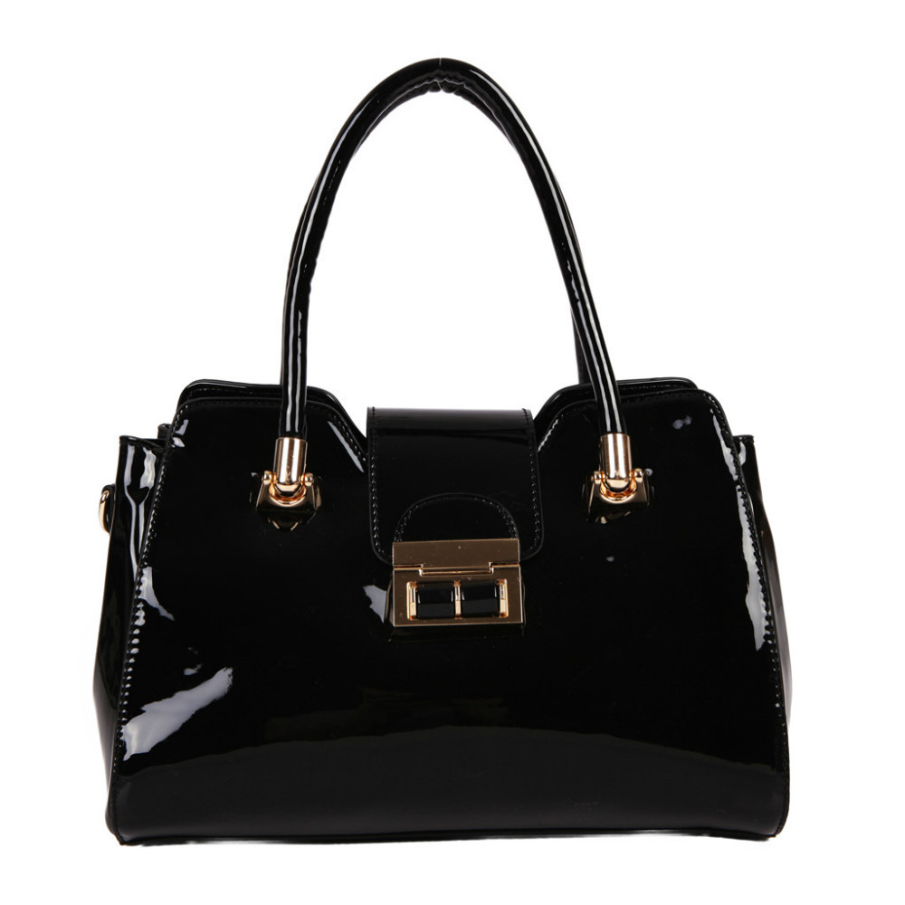 2694a37b88 Get Quotations · 2015 New arrivals GUSSACI fashion Tote famous brand high  quality PU Leather black Bags Ladies Purses