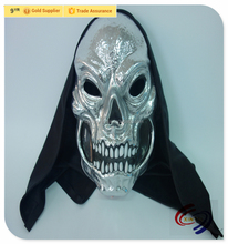 Sliver PVC Plastic Scary Halloween Party Masks for Sale