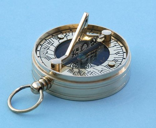 Copper and Brass Small Pocket Sundial