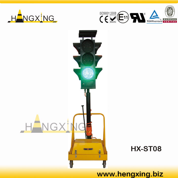 St08 Traffic Light Remote Control Solar Portable Traffic