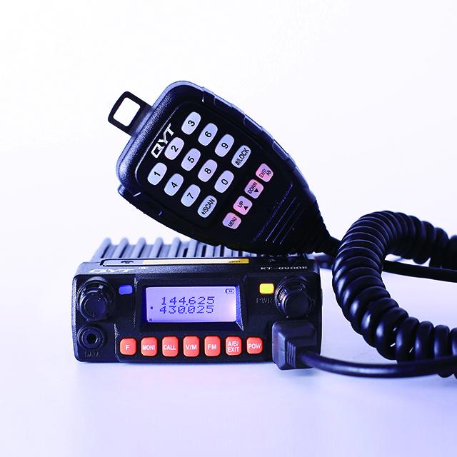 QYT KT-8900R 25W/20W 136-174/240-260/400-480Mhz mini tri-band mobile radio two way radio vehicle mounted