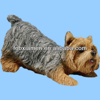 Sandicast Petite Taille Yorkshire Terrier Sculpture Chien Pose Buy
