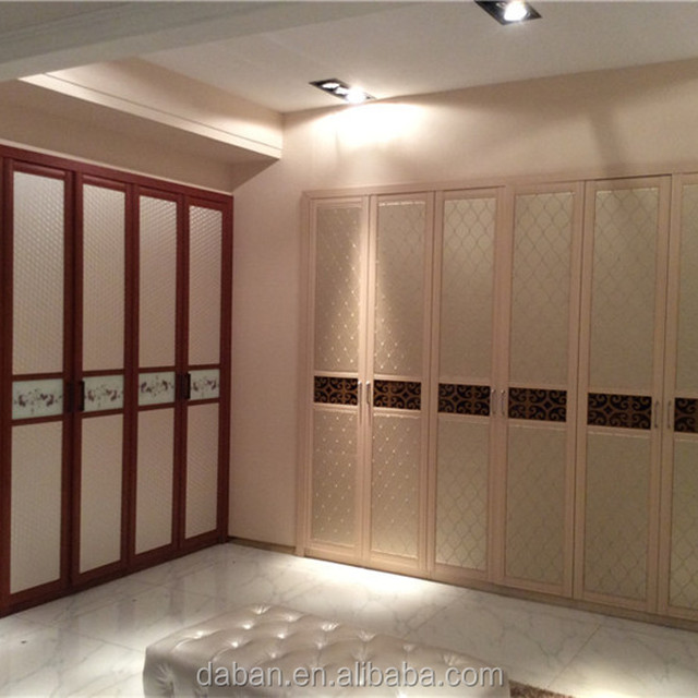 Jisheng Wood Furniture Wardrobe/ Aluminum Profile For Closet Door Plastic  Portable Wardrobe Door