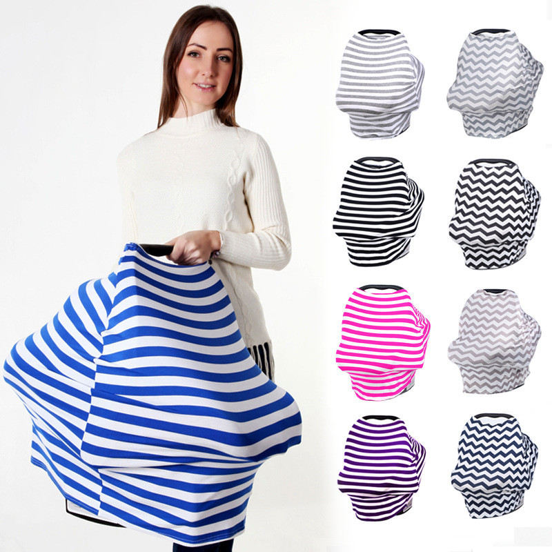 Wholesale Multi-use Mom breastfeeding nursing cover,stretchy baby car seat canopy, Colorful