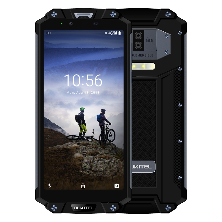 2019 Wholesale Rugged Phone OUKITEL WP2 4G Unlocked IP68 Waterproof 4GB 64GB 10000mAh Battery 6.0 inch Android 8.0 cell phones