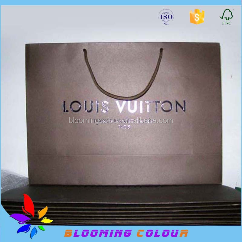 Direct factory machine made printing paper bag/custom logo design paper gift bag