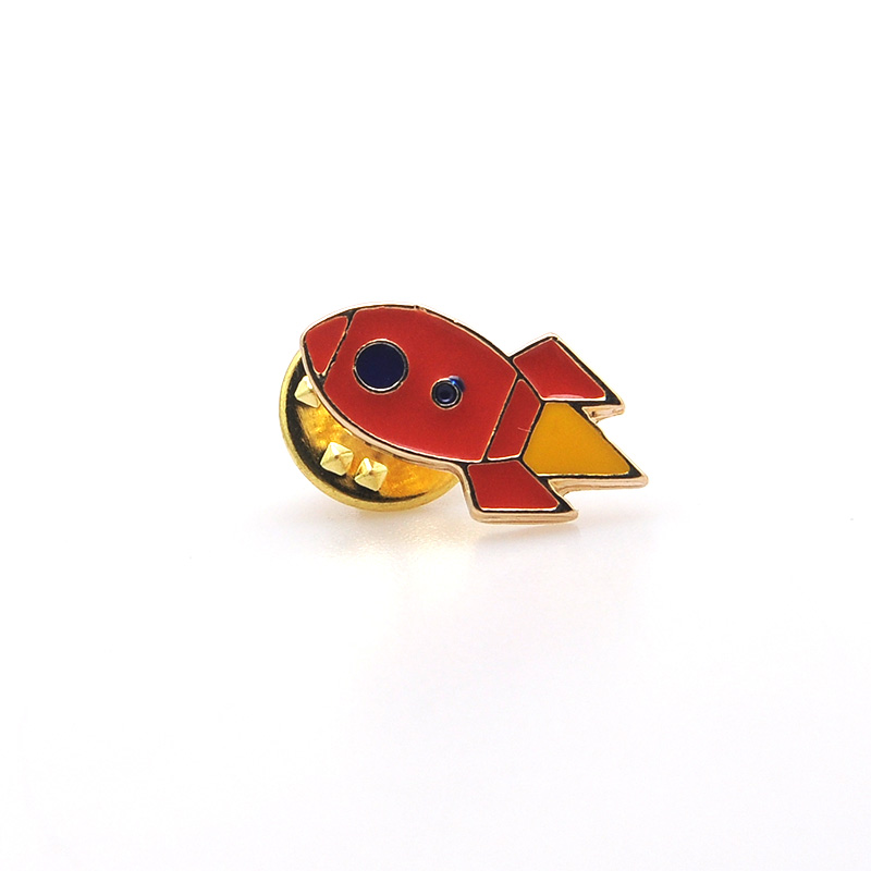 Fashion custom made coat lapel brooch pins with enamel