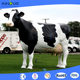 Innova-hot-selling customized large fiberglass milk cow statue as garden decoration